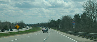 Interstate 496 - Southbound I-496/US 127 in East Lansing
