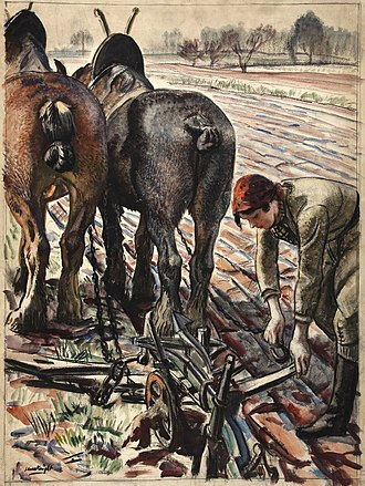 Laura Knight - Land Army Girl (1939) (National Archives)