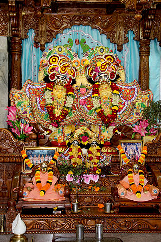 International Society for Krishna Consciousness - Deities of Krishna-Balaram at ISKCON Bhubaneswar temple
