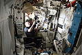 ISS-46 Scott Kelly and Timothy Peake in the Quest airlock.jpg