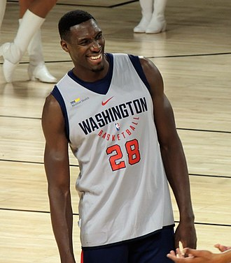 Ian Mahinmi - Mahinmi at Washington Wizards training camp in 2017
