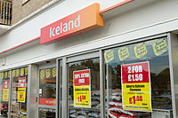 Iceland shopfront in Jersey