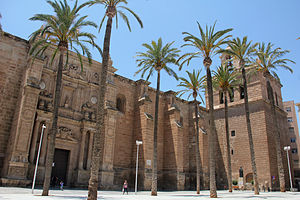 Almería Cathedral - Foreshortened view of the Almería Cathedral