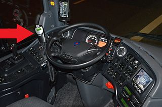 Ignition interlock device breathalyzer connected to a vehicles engine