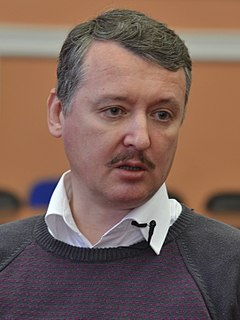 Igor Strelkov (officer) Russian citizen from Moscow who played a significant role in the War in Donbass