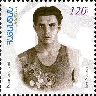 Igor Novikov (pentathlete) - Igor Novikov on a 2009 Armenian stamp