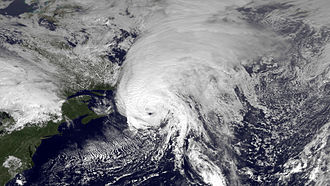 Hurricane Igor - Satellite image of Hurricane Igor on September 21 as it made landfall on  Newfoundland
