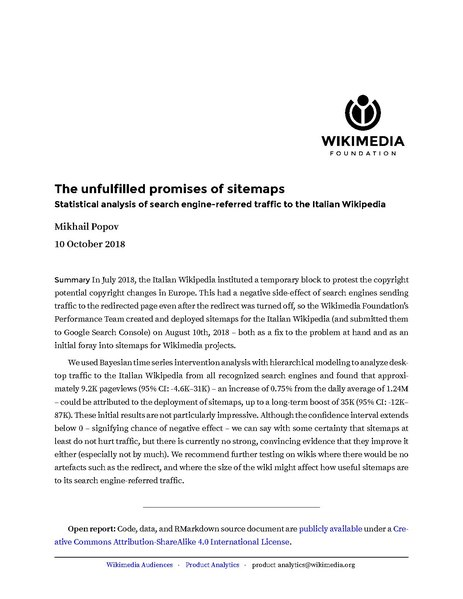 File:Impact of sitemaps on Italian Wikipedia search engine-referred traffic.pdf