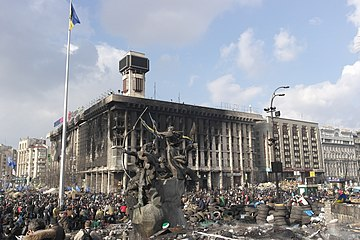 Independence Square in Kiev after the assault by the security forces.jpg