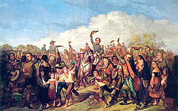 François-René Moreau: The proclamation of the independence of Brazil