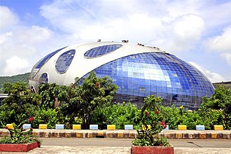 Infosys - Glass building in Pune campus