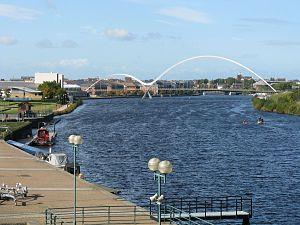 Infinity Bridge - Infinity Bridge from the Tees Barrage