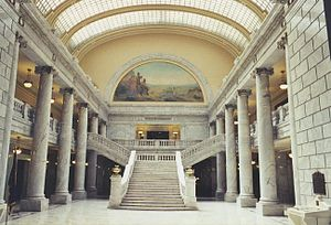 Utah State Legislature - Inside the Utah State Capitol in 2002