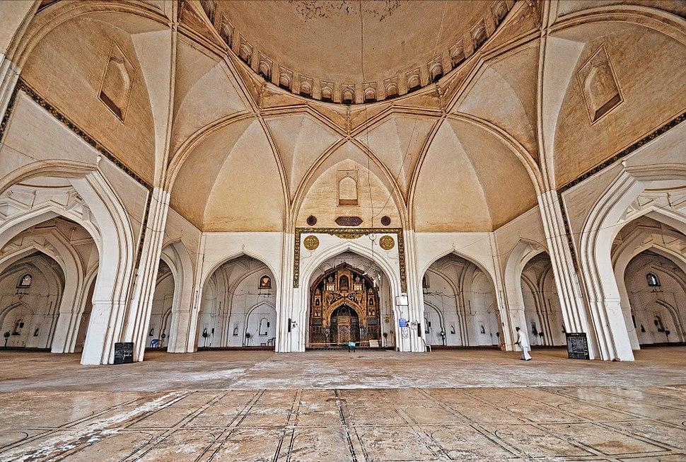 Inside Jama Masjid, Bijapur, Karnataka