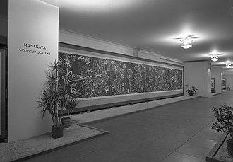 Shikō Munakata - Image: Installation view of Woodcut Screens of Shiko Munakata, January 9 February 18, 1968, Brooklyn Museum, NY 3