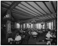Interior, east dining room - Lake Lodge, Southwest of Lake Junction, Lake, Teton County, WY HABS WYO,20-LAK,2A-8.tif