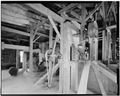 Interior view, 3rd floor, showing elevator head. - Fisher-Fallgatter Mill, Waupaca, Waupaca County, WI HAER WIS,68-WAUP,1-36.tif