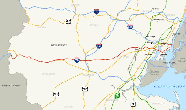File:Interstate 78 (NJ) map.png   Wikipedia