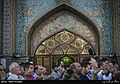 Iranians holding Eid al-Fitr prayer in Imamzadeh Saleh shrine, Tehran, Iran 5.jpg