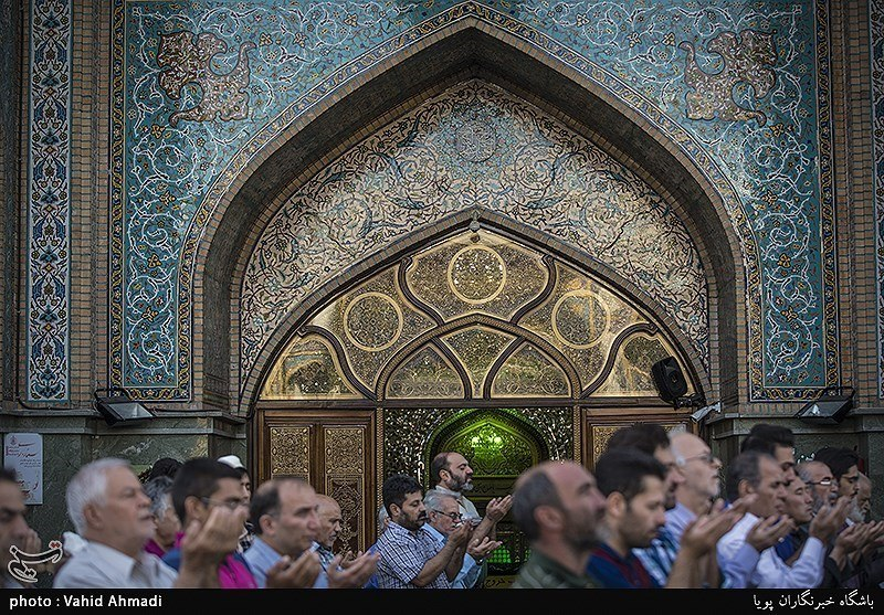 Iranians holding Eid al-Fitr prayer in Imamzadeh Saleh shrine, Tehran, Iran 5