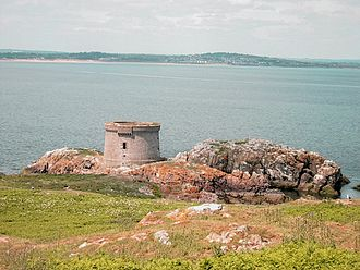 Ireland's Eye - Martello tower on Ireland's Eye