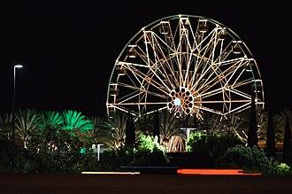 """Irvine Spectrum - """"Giant Wheel"""" at the Irvine Spectrum Center as seen from across I-5"""