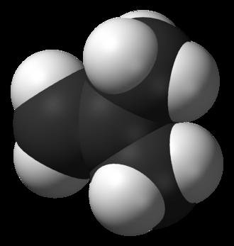 Isobutylene - Image: Isobutylene 3D vd W