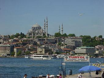 Haliç'in Karaköy yakasından Süleymaniye Camii'nin görünüşü