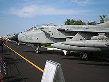 Un Tornado ECR dell'Aeronautica Militare Italiana
