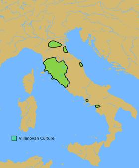 Культуры виллановы в x веке до н э