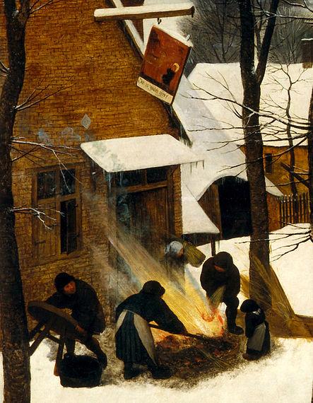 Файл: Охотники на снегу (таверне) JPG.