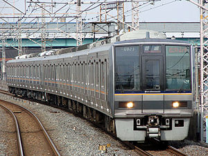 Katamachi Line - 207 series EMU on a Local service