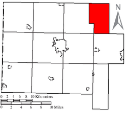 Location of Jackson Township in Van Wert County