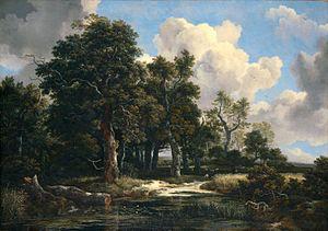 A Wooded Marsh - Image: Jacob Isaaksz. van Ruisdael 017