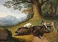 Jacob Philipp Hackert (1737-1807) - Two Views of a Dead Boar with a Mastiff and Two Other Dogs - 608983 - National Trust.jpg