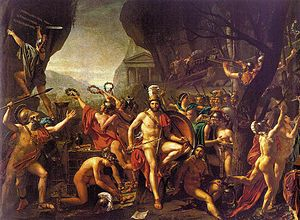 History of Greece - Leonidas at Thermopylae by Jacques-Louis David.