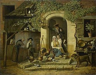 Henry Voordecker - Image: Jagerswoning Rijksmuseum SK A 1157