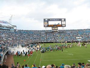 History of the Jacksonville Jaguars -  The Jaguars entrance in 2009.