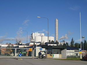 """Early 1990s depression in Finland - A market """"bubble"""" was created by the paper industry in Finland at the end of the 1980s, the collapse of which was a contributor to the '90s recession. In the picture a paper factory located in Jakobstad."""