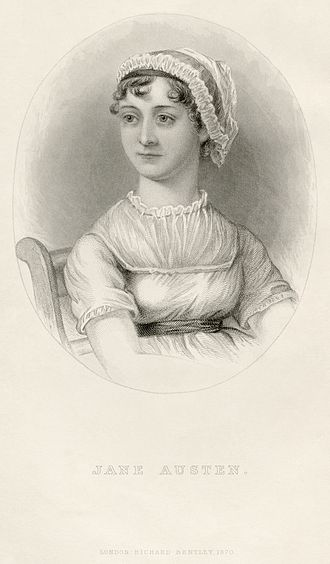 A Memoir of Jane Austen - Victorianized portrait of Jane Austen produced for the Memoir