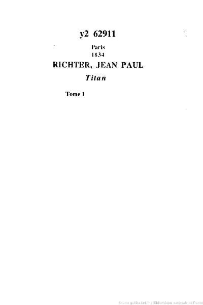File:Jean Paul - Titan, t. 1, 1834, trad. Chasles.djvu