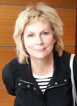 Jennifer Saunders in Melbourne, Australië op 23 april 2014.