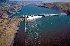 John Day Dam - The dam as seen from Washington