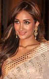 Jiah Khan at Dheeraj Deshmukh & Honey Bhagnani's wedding reception.jpg