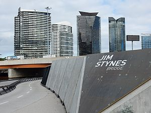 Jim Stynes - Jim Stynes Bridge in Docklands, Melbourne