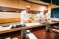 Jiro Ono and his son Yoshikazu (11557102206).jpg