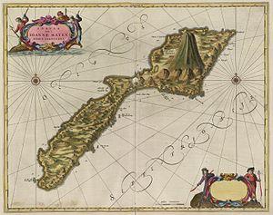 Eggøya - Image: Joan Blaeu Insula Qvæ Ioanne Mayen nomen sortita est