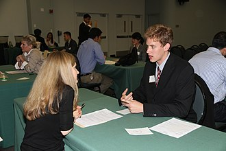 Job interview - An interview at a job fair