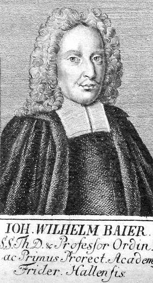 Johann Wilhelm Baier - Johann Wilhelm Baier, by Johann Christoph von Dreyhaupt
