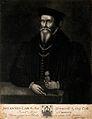 John Caius. Mezzotint by J. Faber. Wellcome V0000956.jpg